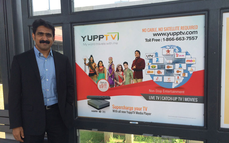 At New Jersey NJ Transit Metro park station with YuppTV