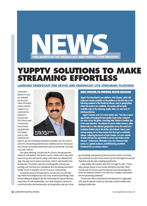 Yupptv Streaming Effortless